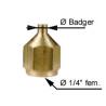 Adaptateur Badger x 1/4 F