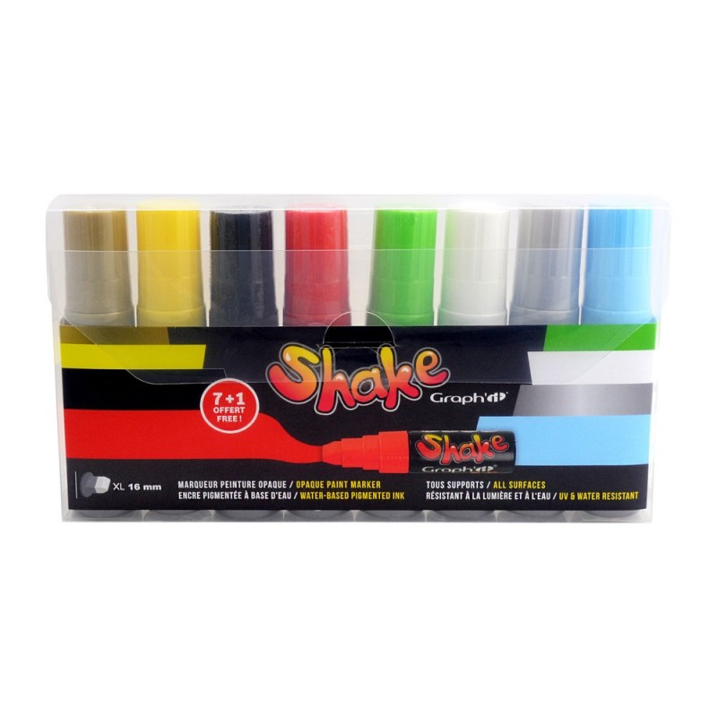 Graph it Shake Set 8 marqueurs - STDS Kustom Aerogrpahe