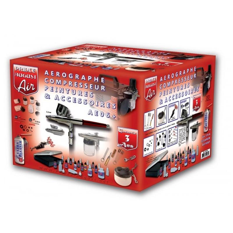 copy of AE05+ – Air Ultimate Aérographe HD Compresseur Peintures Accessoires + UC01